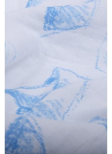 Cigit Cıgıt Kayık Baskılı Tek Kat Muslin  Battaniye Renkli